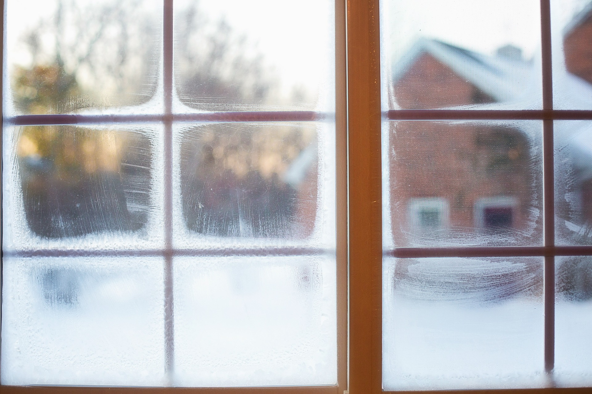 window in winter