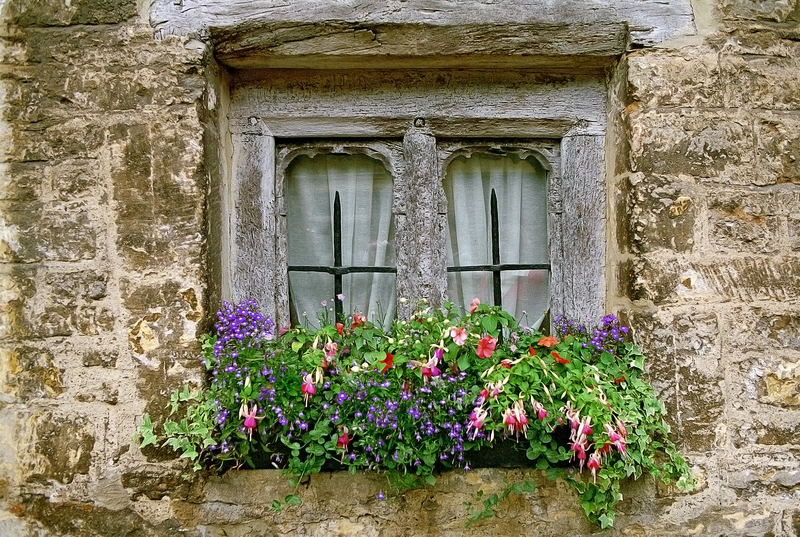 Flower window decoration