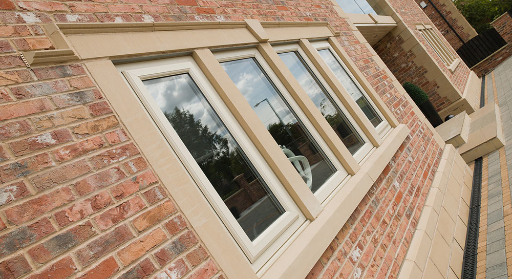 Outside view of grade A double glazing windows