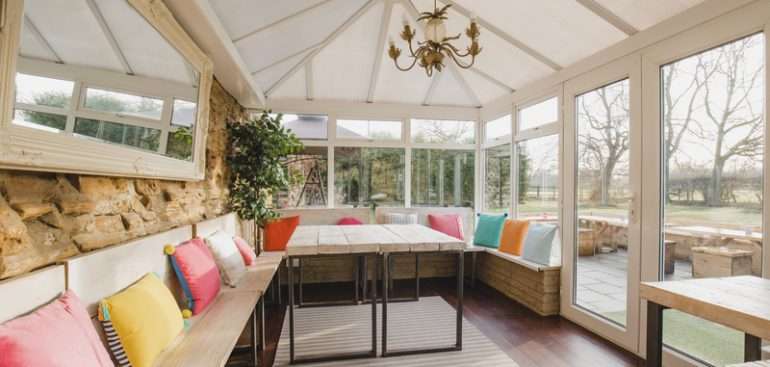 Modern Seating Area in Conservatory