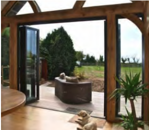 Bi-Fold Doors Opening Out to Garden